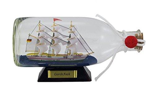 Flaschenschiff- Buddelschiff- Schiff in Flasche- Gorch Fock -L 16 cm (Schiff In Flasche Einer)