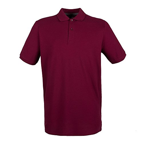 Henbury Herren Pique Polo-Shirt Vintage-Rot