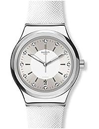 Swatch Orologio Analogico Automatico Donna con Cinturino in Pelle YIS422