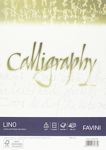 Favini a69q514 carta calligraphy, effetto lino