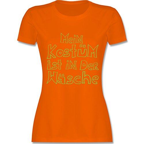 Karneval & Fasching - Mein Kostüm ist in der Wäsche - tailliertes Premium T-Shirt mit Rundhalsausschnitt für Damen Orange