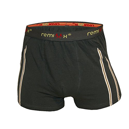 Herren Boxershorts Baumwolle Unterwäsche Streifen Schwarz Anthrazit Dunkelblau Dunkelgrün Retro Männer Shorts Unterhose 5-10er Pack M L XL XXL von SGS Olive - 10 Stk.