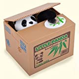Cute Stealing Black & White Panda Coin Money Box Piggy Storage Saving Bank