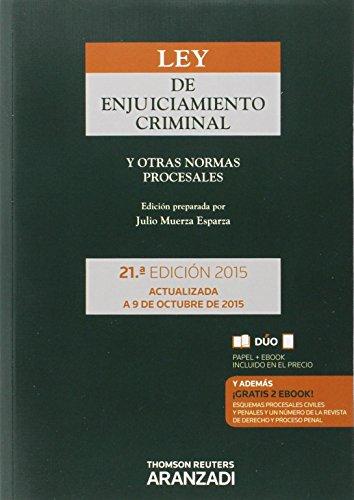 Ley De Enjuiciamiento Criminal Y Otras Normas Procesales (Código Básico) por Aa. Vv.