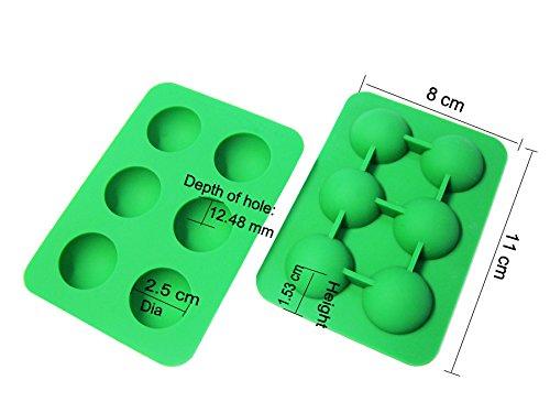 Preisvergleich Produktbild ingrédients spéciaux en silicone 6 petits demi-sphère Moule