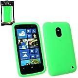 Emartbuy ® Nokia Lumia 620 Silikon Skin Cover / Case Grün