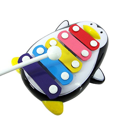 Ularmo Baby Kind Musikspielzeug Xylophon Klug Entwicklung Hölzern Instrument Penguin (schwarz)
