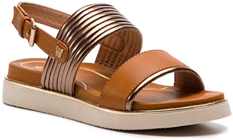 Wrangler Footwear WL91650A 097 Clipper Karen Sandali Scarpe Donna Fibbia Bronzo | Eccellente qualità  | Scolaro/Ragazze Scarpa