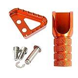 NO LOGO 1pack Bremspedal Schritt Schalthebel-Lever-Spitze for KTM 690 950 990 SMC Supermoto R Super-Enduro R Adventure S ADV 2003-2009 (Farbe : Orange)