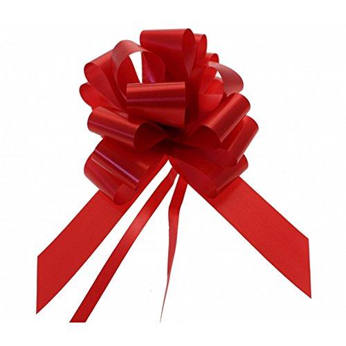 20 x 50 mm (2 ') Tiras satinadas - Rojo para las decoraciones de regalos, ramos de la flor y Arreglos, cestas, Coches de boda, ofrendas florales, Artesanía y manualidades, Cestas de Navidad