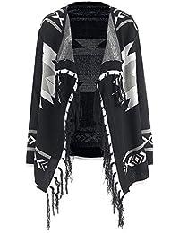 ad2dd35082ad Rosegal Cardigan Femme Chandail Casual Gilet Long Femme Manche Longue  Sweater Cardigan Hiver Pull Tricot Ouvert aztèque en…