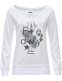 Fred Perry Flowery7lf, Sweatshit à Capuche Sportswear Femme