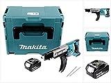 Makita DFR 750 M1J 18 V Akku Magazinschrauber 45-75 mm im Makpac + 1 x BL 1840 4,0 Ah Akku - ohne Ladegerät