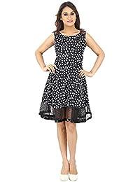 FRANCLO women's Polka dot gathered dress