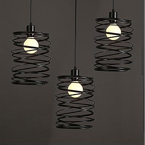 LYNDM Testa singola lampadario di ferro ristorante retrò creativo industriale americano lampadario ad anello - 16 Collana Della Corda Catena