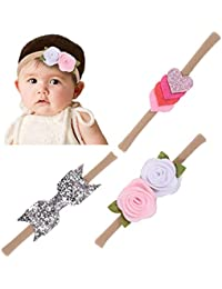 Babymoon Headbands Flowers Soft Hairbands for Baby Girls Infants Toddlers