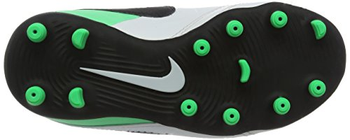 Nike Jr Tiempo Rio Iii (V) Fg, Chaussures de Football Mixte Enfant Multicolore (White/black-electro Green)