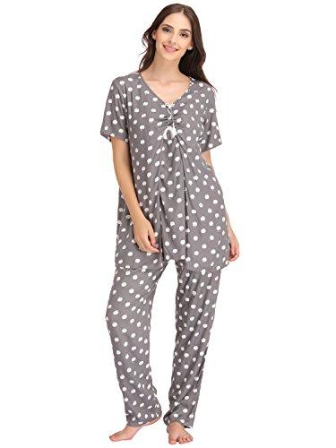 Clovia Women Apple Print Top & Pyjama Set