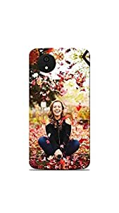 Sowing Happiness Printed Back Cover for Micromax Canvas Android A1