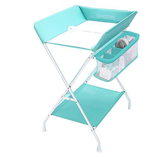 Tables à langer Station De avec Boîte De Rangement pour Bébé Unité Portable pour Soins De Santé pour Bébé, Bleu (Taille : Height-108cm)