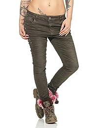 db7d2b55ca8c OSAB-Fashion 10848 LEXXURY Damen Jeans Röhrenjeans Haremshose Haremsjeans  Boyfriend Baggy