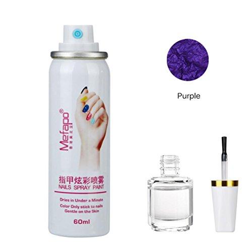 Yogogo Nagellack Spray und Nagellack Foundation Layer Schnell trocken Nails Set