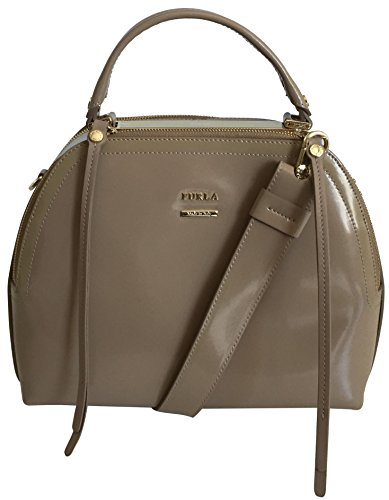 furla-bag-globe-ladies-top-handle-bag-patent-leather-handbag-shoulder-bag-beige-styled-and-made-in-i