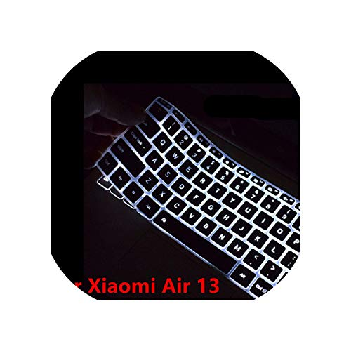 Tastaturfolie Colorful Transparent Silicone Keyboard Cover for Xiaomi Air 12.5 13.3 Waterproof Laptop Keyboard Skin for Xiaomi Air 12 13 Inch,Black 13 inch