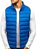 BOLF Gilet - Trapuntato - Senza Cappuccio - A Zip - Sportivo - di Moda - da Uomo S-West 1262 Azzurro L [4D4]