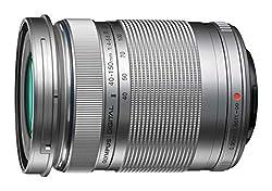 Olympus M.Zuiko Digital ED 40-150mm F4‑5.6 II Objektiv (Telezoom, geeignet für alle MFT-Kameras, Olympus OM-D und PEN Modelle, Panasonic G-Serie) silber
