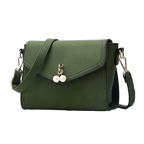 Art Und Weisehandtaschen Schulter Kurierbeutel Kleine Beutelbeutel Kleine Quadratische Beutelnieten Kleine Quadratische Beutelverschluss Green