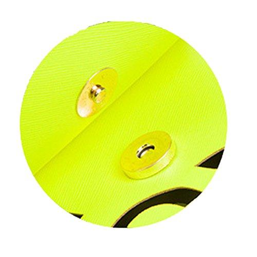 Retro Colore Fluorescente Cava Borsa Da Busta Frizione Borsa A Tracolla BlackAndWhite