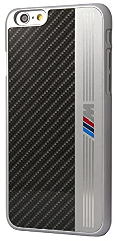 """BMW BMHCP6MEB Coque avec Aluminium Bande pour iPhone 6/6S - 4,7"""" Noir"""