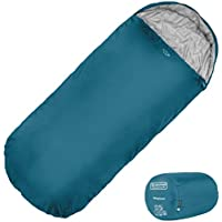 XL Sleeping Bag by Highlander – Extra Large Pod Design perfect for Camping, Sleepovers and Festivals – Lightweight Single Bags suitable for Adults & Juniors -The Sleephaven, Azure, Black & Grape Juice