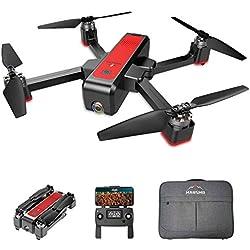MARSMO Drone B4W WiFi FPV avec caméra Ajustable 2K Live 3 Modes de vol, Pliable FPV Quadcopter, Distance de contrôle Environ 1,6 km, Retour Intelligent, Temps de vol de 25 Minutes[2019 Plus récent]