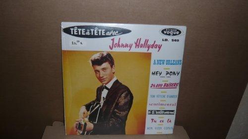 Johnny Halliday . TêTe À Tête Avec Johnny Halliday - Réédition De 1997 En CD Au Format EP Original Vogue 1961. Numérotés Tirage 2500 Ex . Exemplaires Cellophanés.