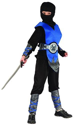 Generique Blaues Ninja Kostüm für Jungen 122/134 (7-9 Jahre)