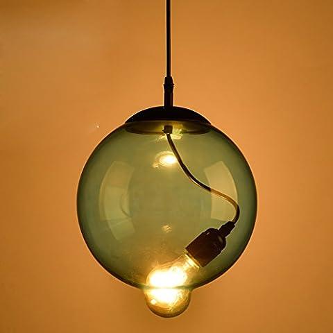 Artes creativas personalidad salón dormitorio den balcón barra de la ventana industria de la luz azul lámpara de cristal bola minimalista