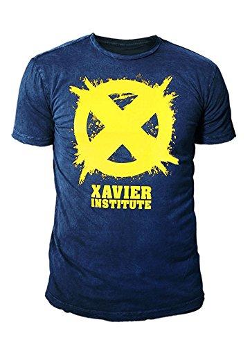 X-Men Wolverine Herren Premium T-Shirt - Xavier Institute Logo (Navyblau) (S-XL) (S)