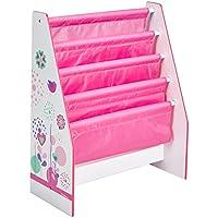 Preisvergleich für Worlds Apart 470FLW Blumen und Schmetterlingen Regal für Kinderbücher, Holz, 23 x 51 x 60 cm, rosa