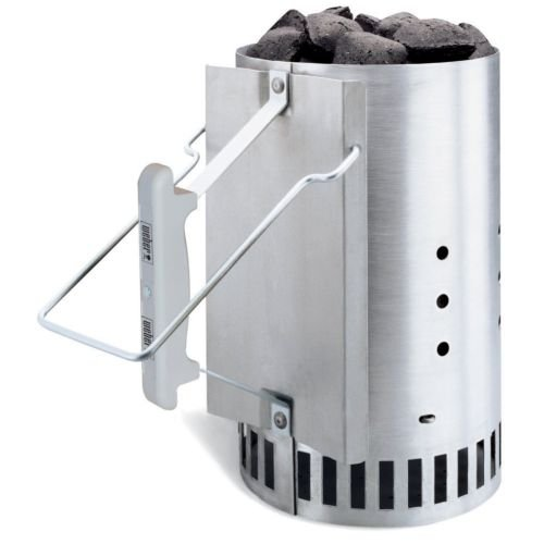 Preisvergleich Produktbild Weber 7416 Rapidfire Chimney Starter,White,Measures 7-1/2 by 7-1/2 by 12 inch