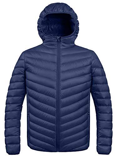 ZSHOW Herren Winter-mit Kapuze Stopfbarer Down Jacket