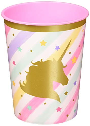Creative Converting 329303 Lot de 12 tasses en plastique Motif licorne