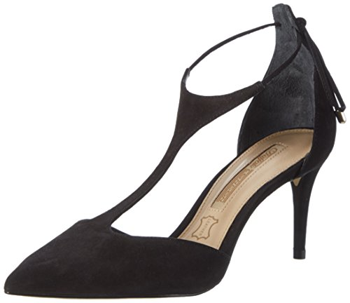 Buffalo London Damen ZS 7449-16 Nobuck Pumps, Schwarz (Black 01), 39 EU