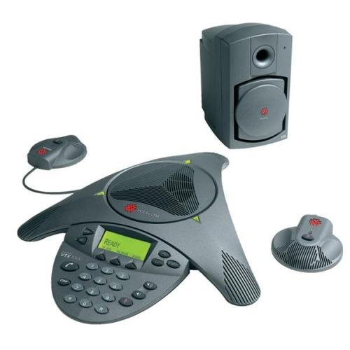 Polycom SoundStation VTX 1000 Conference Phone Including 2x Microphones and Sub-woofer