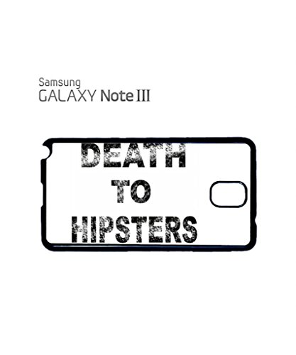 Death to Hipsters Mobile Cell Phone Case Samsung Galaxy S5 Black Blanc