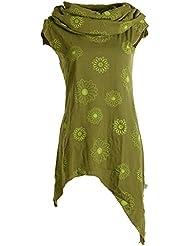 Vishes - Alternative Bekleidung – Bedrucktes Kleid aus Baumwolle mit Kragenkapuze