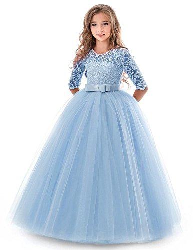 NNJXD Mädchen Festzug Stickerei Prom Kleider Prinzessin Hochzeit Kleidung Größe(170) 13-14 Jahre...