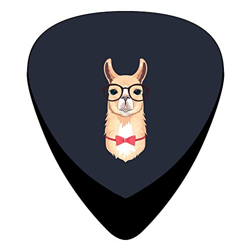Classic Cute Geek Llama With Glasses And Bow Tie Design Guitar Picks (12 Pack) Bow Tie Taste