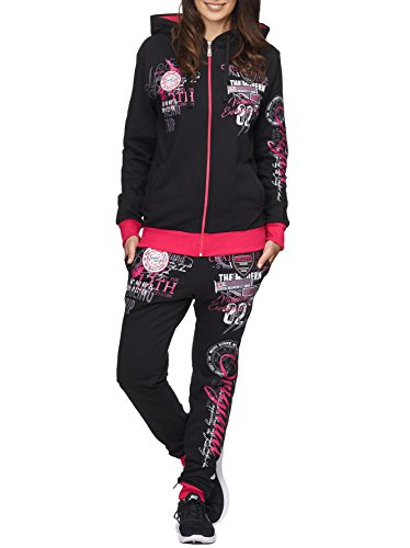 Damen Jogging-Anzug | Original 692 (XL-fällt groß aus, Pink)